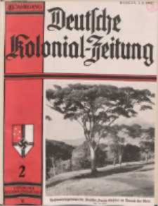Deutsche Kolonialzeitung, 49. Jg. 1. Februar 1937, Heft 2.