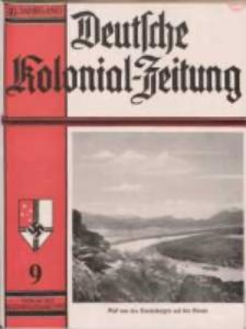 Deutsche Kolonialzeitung, 49. Jg. 1. September 1937, Heft 9.