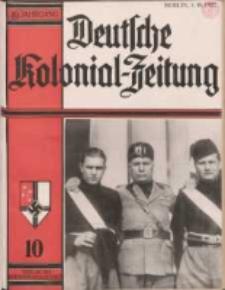 Deutsche Kolonialzeitung, 49. Jg. 1. Oktober 1937, Heft 10.