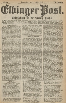 Elbinger Post, Nr. 59, Donnerstag 11 März 1875, 2 Jh