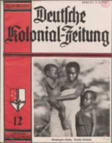 Deutsche Kolonialzeitung, 49. Jg. 1. Dezember 1937, Heft 12.