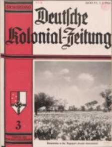 Deutsche Kolonialzeitung, 50. Jg. 1. März 1938, Heft 3.
