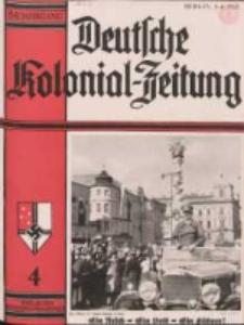 Deutsche Kolonialzeitung, 50. Jg. 1. April 1938, Heft 4.