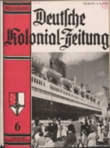 Deutsche Kolonialzeitung, 50. Jg. 1. Juni 1938, Heft 6.