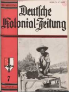 Deutsche Kolonialzeitung, 50. Jg. 1. Juli 1938, Heft 7.