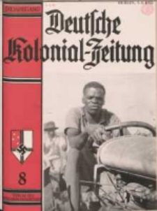 Deutsche Kolonialzeitung, 50. Jg. 1. August 1938, Heft 8.