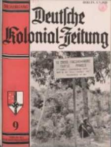 Deutsche Kolonialzeitung, 50. Jg. 1. September 1938, Heft 9.