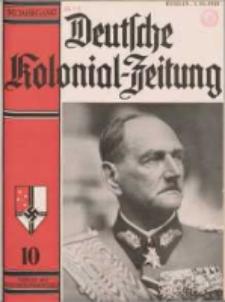 Deutsche Kolonialzeitung, 50. Jg. 1. Oktober 1938, Heft 10.