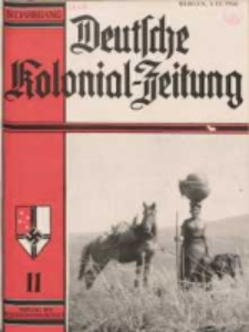 Deutsche Kolonialzeitung, 50. Jg. 1. November 1938, Heft 11.