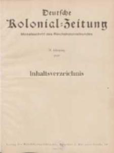Deutsche Kolonialzeitung, 51. Jg. 1. Januar 1939, Heft 1.