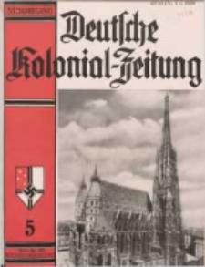 Deutsche Kolonialzeitung, 51. Jg. 1. Mai 1939, Heft 5.