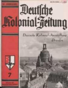 Deutsche Kolonialzeitung, 51. Jg. 1. Juli 1939, Heft 7.