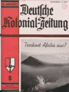 Deutsche Kolonialzeitung, 51. Jg. 1. August 1939, Heft 8.