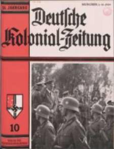 Deutsche Kolonialzeitung, 51. Jg. 1. Oktober 1939, Heft 10.