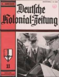 Deutsche Kolonialzeitung, 51. Jg. 1. November 1939, Heft 11.