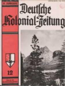 Deutsche Kolonialzeitung, 51. Jg. 1. Dezember 1939, Heft 12.