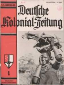 Deutsche Kolonialzeitung, 52. Jg. 1. Januar 1940, Heft 1.