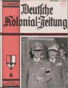 Deutsche Kolonialzeitung, 52. Jg. 1. Juni 1940, Heft 6.