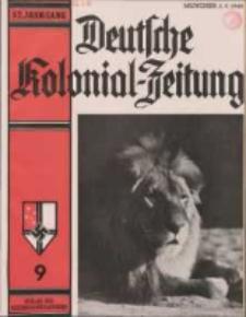 Deutsche Kolonialzeitung, 52. Jg. 1. September 1940, Heft 9.