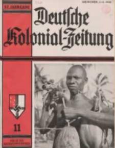 Deutsche Kolonialzeitung, 52. Jg. 1. November 1940, Heft 11.