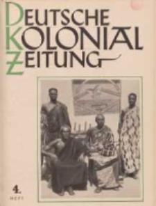 Deutsche Kolonialzeitung, 53. Jg. 1. April 1941, Heft 4.