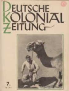 Deutsche Kolonialzeitung, 53. Jg. 1. Juli 1941, Heft 7.