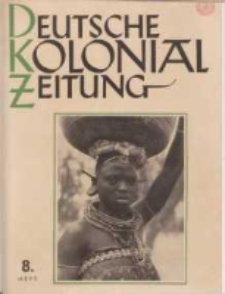 Deutsche Kolonialzeitung, 53. Jg. 1. August 1941, Heft 8.