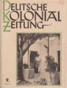 Deutsche Kolonialzeitung, 53. Jg. 1. September 1941, Heft 9.