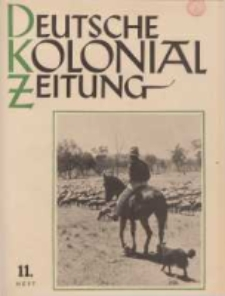 Deutsche Kolonialzeitung, 53. Jg. 1. November 1941, Heft 11.