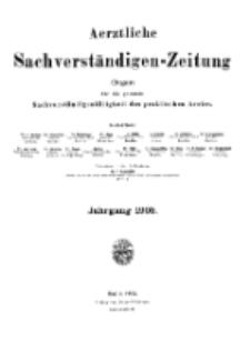 Aerztliche Sachverständigen-Zeitung, (Sachregister und Autorenregister) 11. Jg. 1905