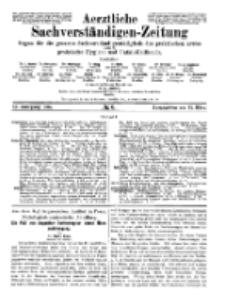 Aerztliche Sachverständigen-Zeitung, 11. Jg. 15. März 1905, No 6.