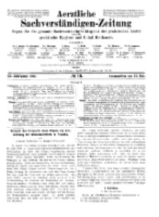 Aerztliche Sachverständigen-Zeitung, 11. Jg. 15. Mai 1905, No 10.