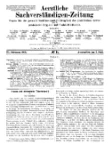 Aerztliche Sachverständigen-Zeitung, 11. Jg. 1. Juni 1905, No 11.