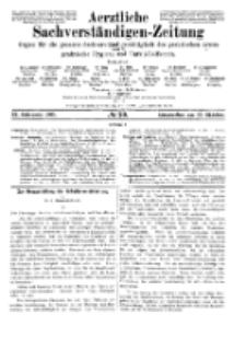 Aerztliche Sachverständigen-Zeitung, 11. Jg. 15. Oktober 1905, No 20.