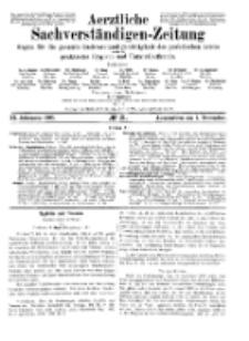 Aerztliche Sachverständigen-Zeitung, 11. Jg. 1. November 1905, No 21.