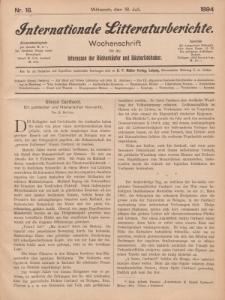 Internationale Litteraturberichte, Mittwoch 18. Juli 1894, Nr 16.