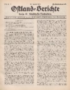 Ostland-Berichte. Reihe B. Wirtschafts-Nachrichten, 25. Januar 1934, Nr 3.