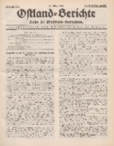 Ostland-Berichte. Reihe B. Wirtschafts-Nachrichten, 25. März 1934, Nr 8/ 9.