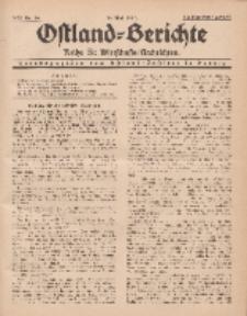 Ostland-Berichte. Reihe B. Wirtschafts-Nachrichten, 15. Mai 1934, Nr 14.