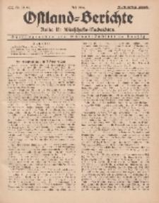 Ostland-Berichte. Reihe B. Wirtschafts-Nachrichten, Juli 1934, Nr 18- 20.