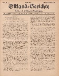 Ostland-Berichte. Reihe B. Wirtschafts-Nachrichten, August 1934, Nr 21.