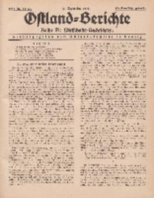 Ostland-Berichte. Reihe B. Wirtschafts-Nachrichten, 15. September 1934, Nr 22-23.