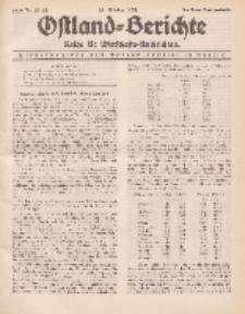 Ostland-Berichte. Reihe B. Wirtschafts-Nachrichten, 25. Oktober 1934, Nr 25-26.
