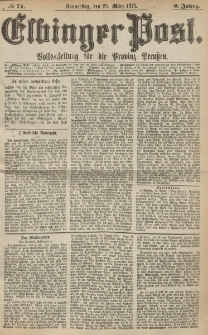 Elbinger Post, Nr. 71, Donnerstag 25 März 1875, 2 Jh