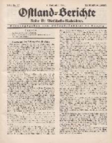 Ostland-Berichte. Reihe B. Wirtschafts-Nachrichten, 5. November 1934, Nr 27.