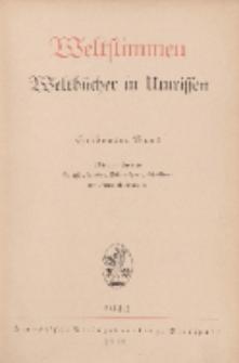 Weltstimmen. Weltbücher in Umrissen, 7. Jg. Januar 1933, Heft 1.