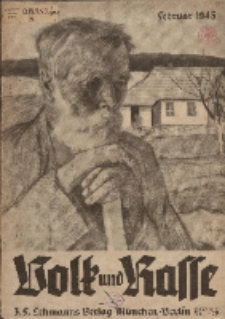 Volk und Rasse, 18. Jg. Februar 1943, Heft 2.