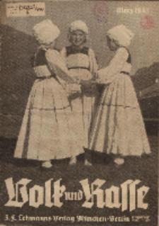 Volk und Rasse, 18. Jg. März 1943, Heft 3.