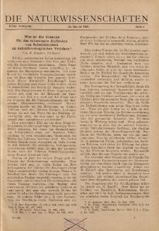 Die Naturwissenschaften. Wochenschrift..., 11. Jg. 1923, 12. Januar, Heft 2.