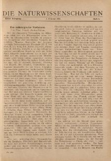 Die Naturwissenschaften. Wochenschrift..., 11. Jg. 1923, 9. Februar, Heft 6.